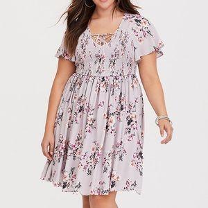 Torrid smocked floral dress